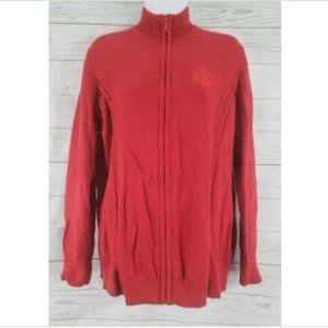 Tommy Hilfiger Full Zip Sweater Jacket Sz 1X Red